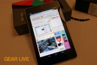 Nexus 7 tablet on box