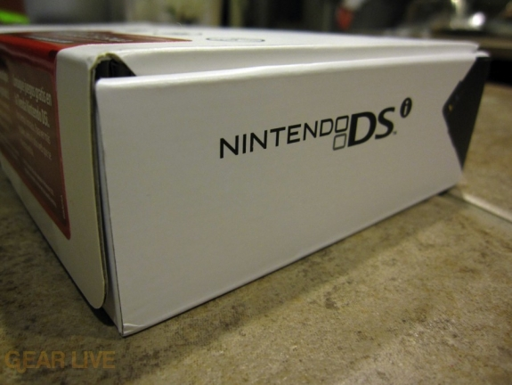 Nintendo DSi box side