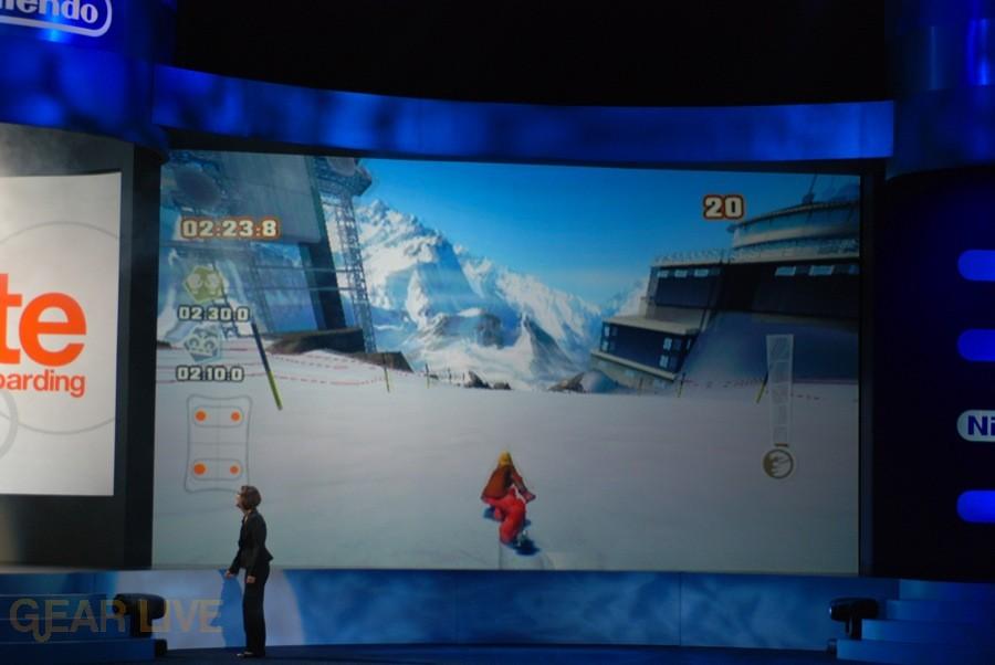 Nintendo E3 08: Shaun White Snowboarding screen