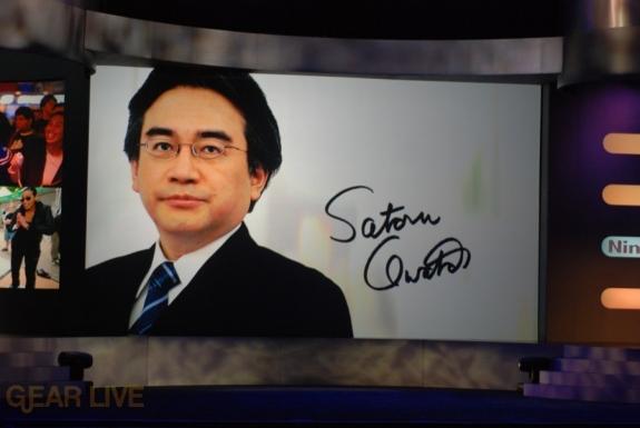 Nintendo E3 08: Satori Iwata enters