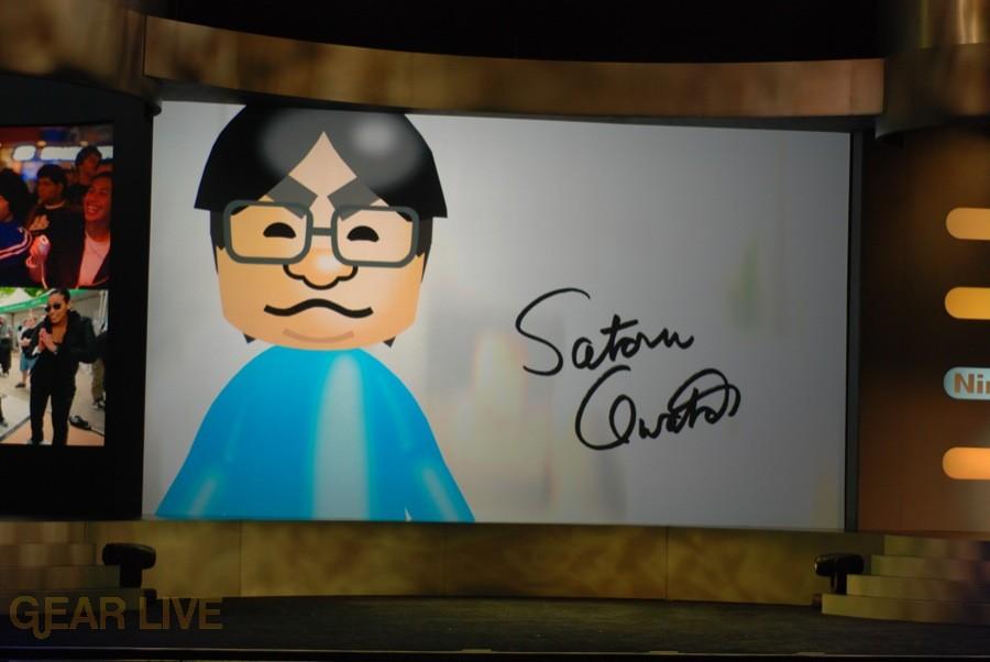 Nintendo E3 08: Satoru Iwata Mii