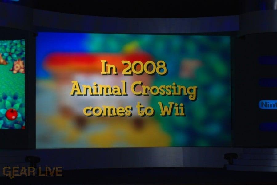 Nintendo E3 08: Animal Crossing Wii