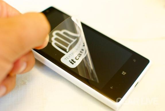 Nokia Lumia 1020 removing sticker