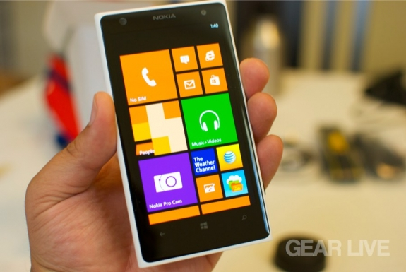 Nokia Lumia 1020 home screen