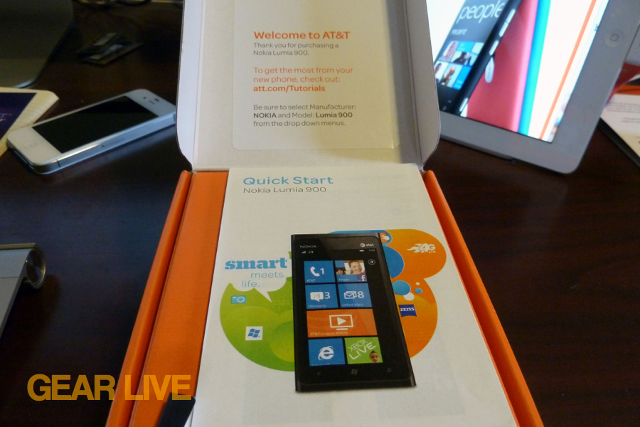 Nokia Lumia 900 Getting Started guide