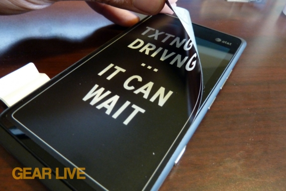 Removing Texting and Driving sticker from Lumia 900