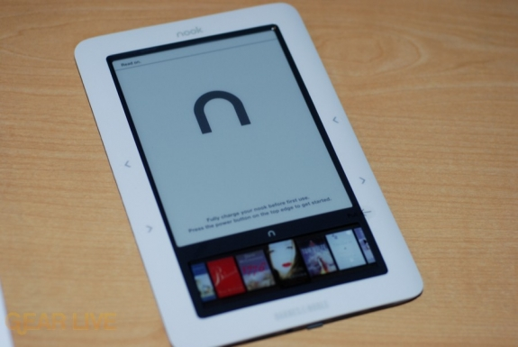Barnes & Noble nook out of casing