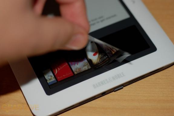 Removing nook touchscreen sticker