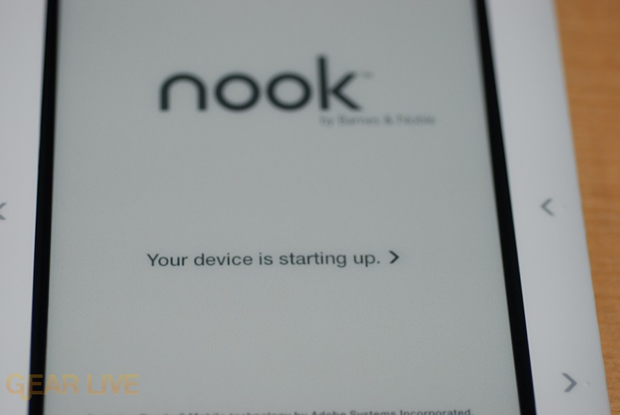 Your nook is starting up