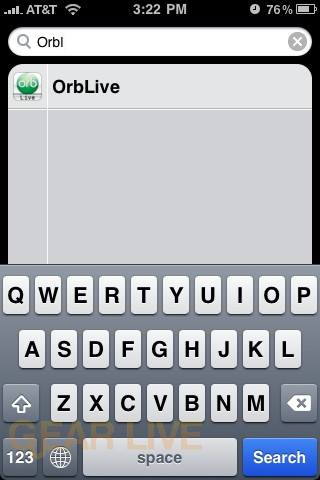 OrbLive for iPhone - Spotlight