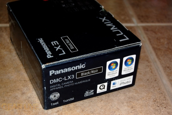 Panasonic Lumix LX3 box side