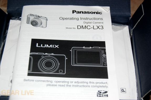 Panasonic Lumix LX3 manual