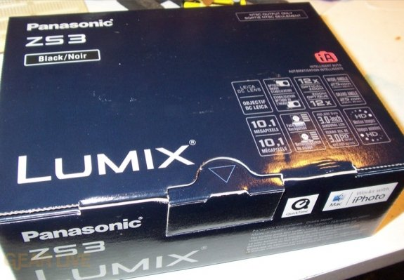 Panasonic Lumix ZS3 box top