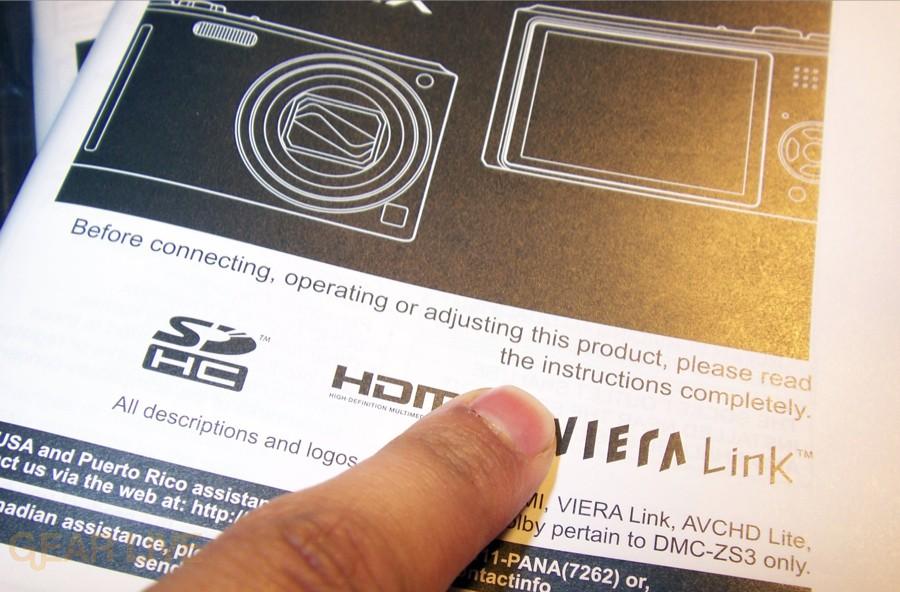 Panasonic Lumix ZS3 instructions