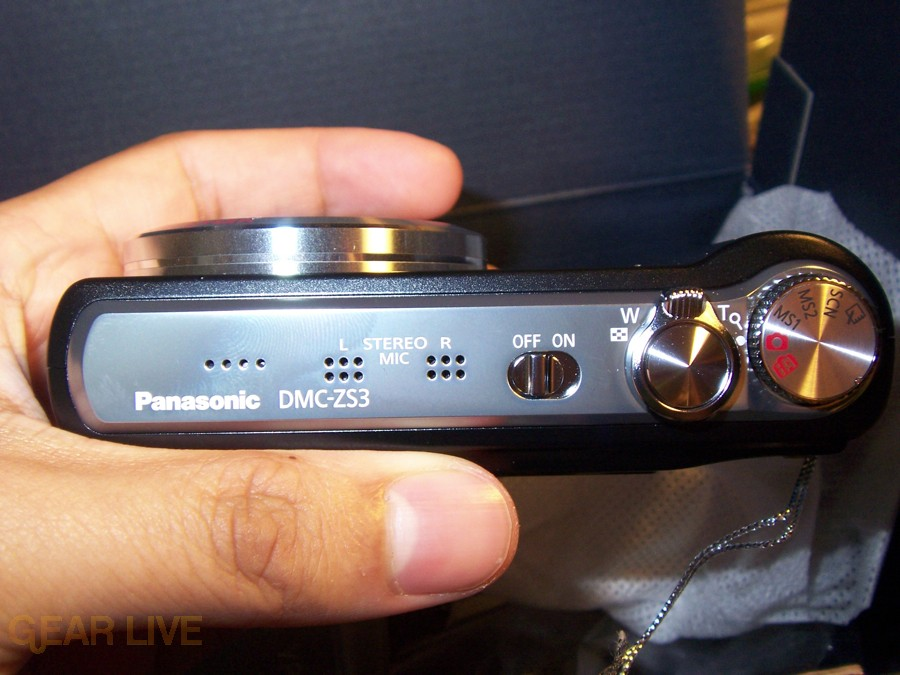 Panasonic Lumix ZS3 top controls