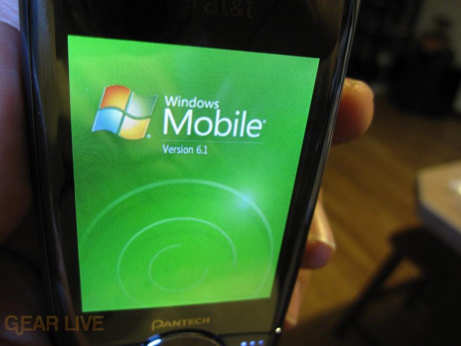 Pantech Matrix Pro Windows Mobile 6.1 logo