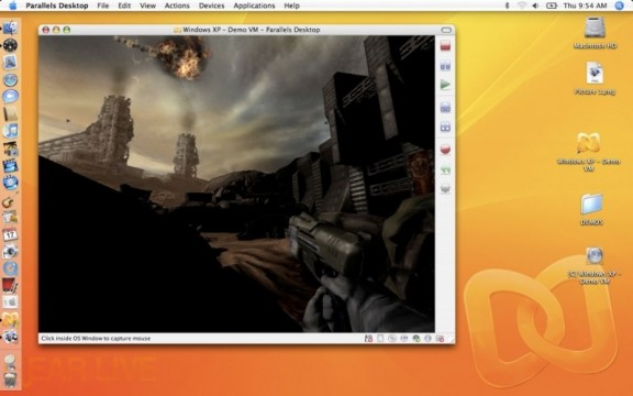 Quake 4 Running in Parallels