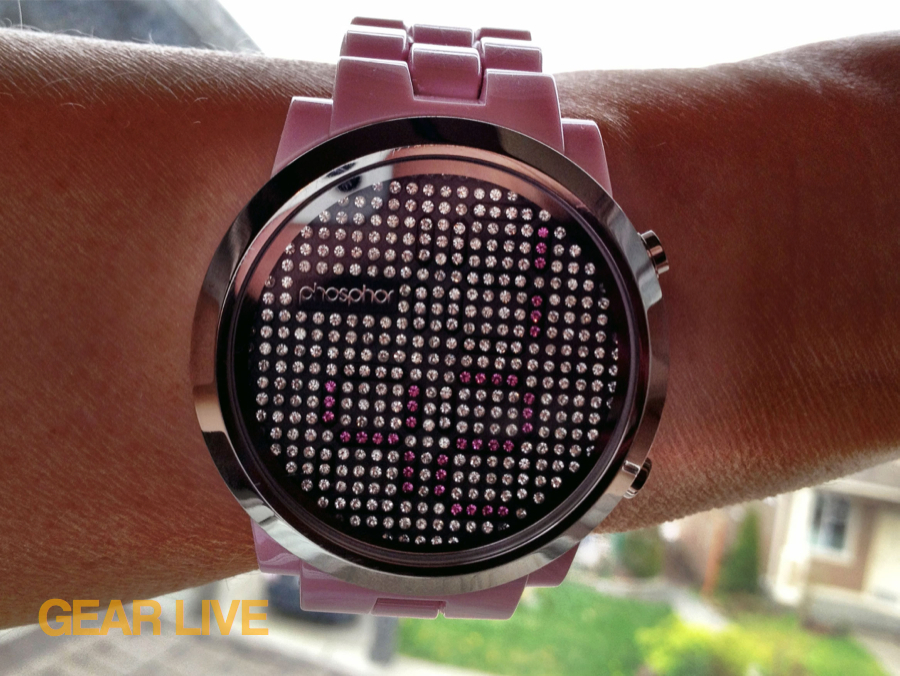 Phosphor Appear watch (pink)