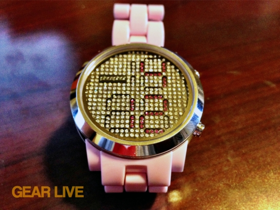 Phosphor Appear pink watch