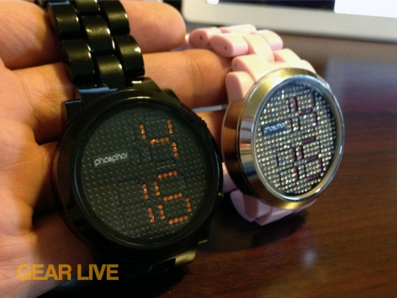 Holding the Phosphor Appear Swarovski crystal watches