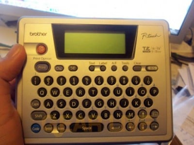 The Brother P-Touch PT-18r Label Maker