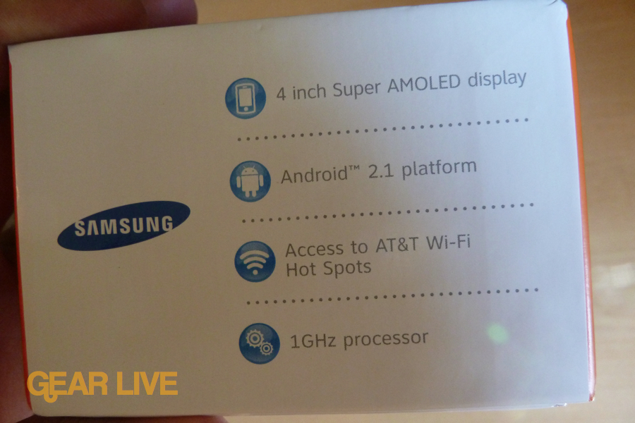 Samsung Captivate features