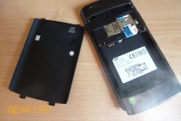 Samsung Captivate back panel removed