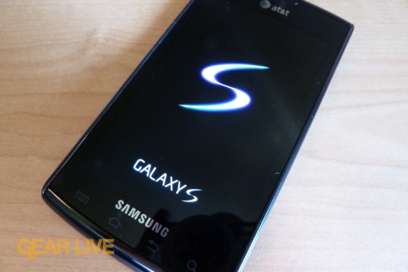 Samsung Captivate Galaxy S logo