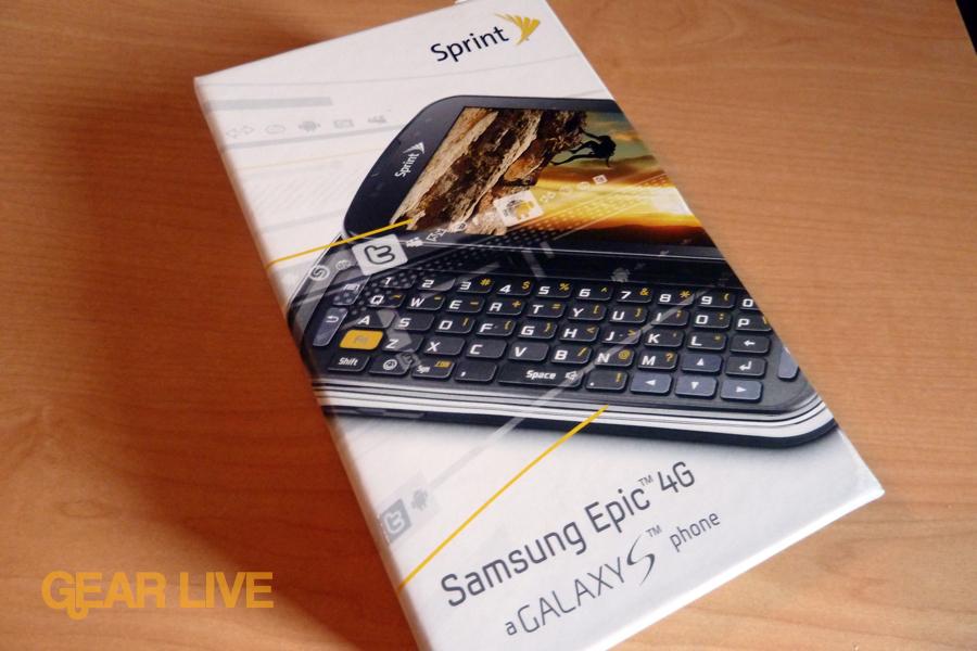 Samsung Epic 4G box front
