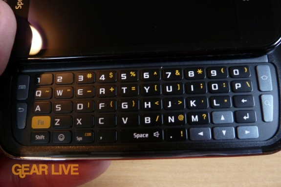 Samsung Epic 4G keyboard