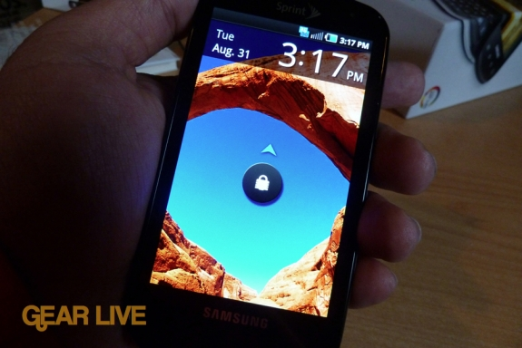 Samsung Epic 4G lock screen