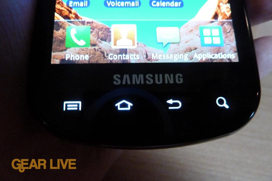 Samsung Epic 4G touch panel backlit
