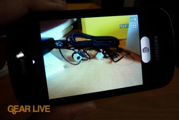 Samsung Epic 4G camera