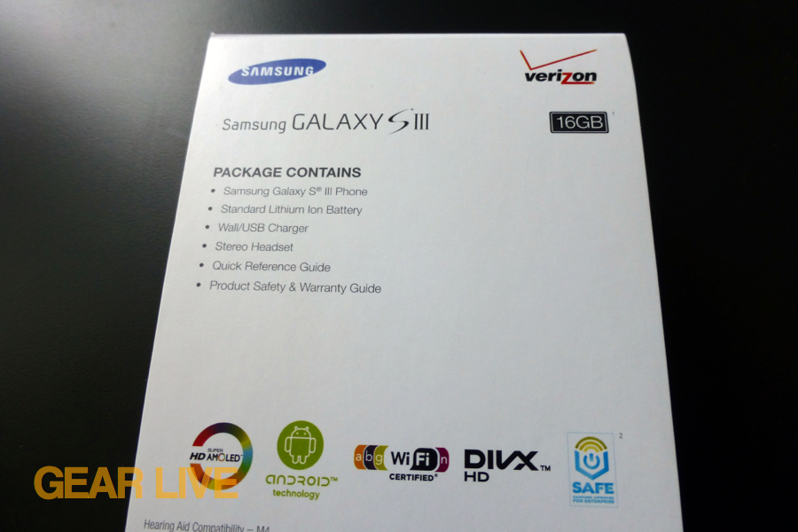 Samsung Galaxy S III specs