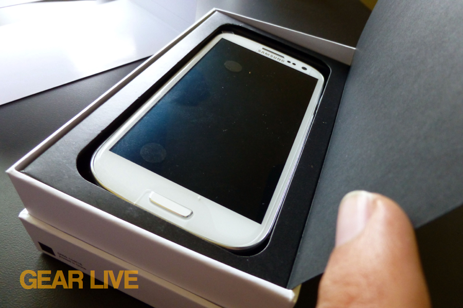 Samsung Galaxy S III in the box