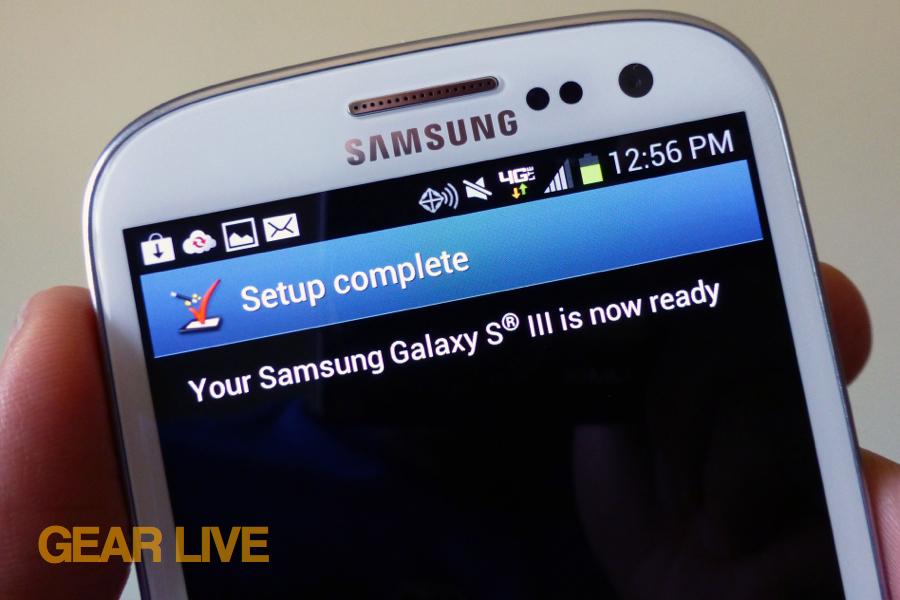 Samsung Galaxy S III setup