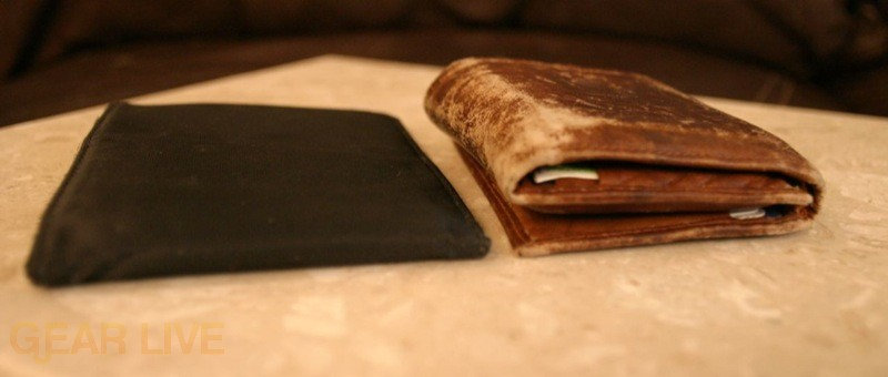 Another Skinny wallet vs. traditional tri-fold