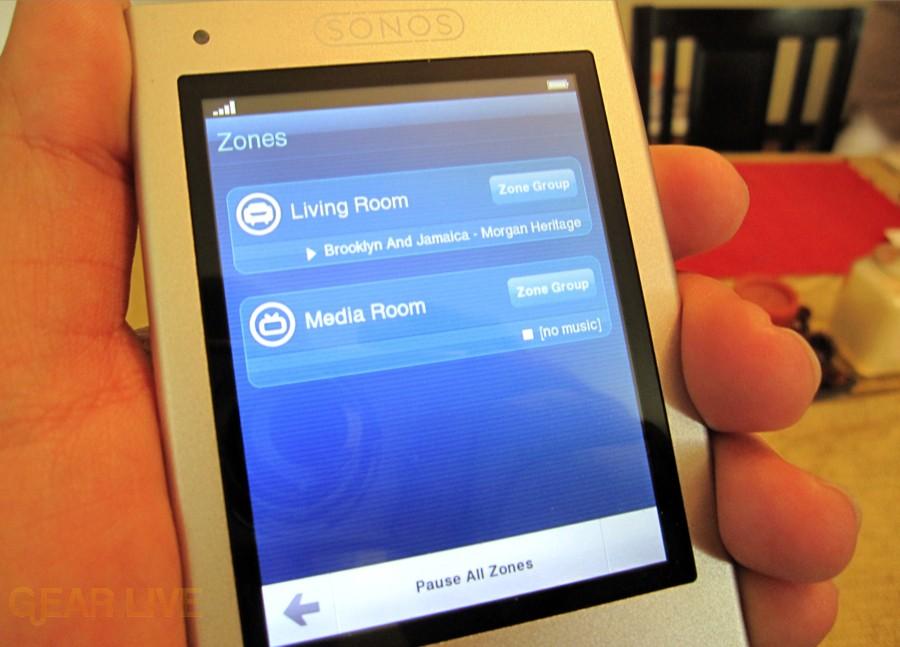 Sonos Controller 200 Zones Menu