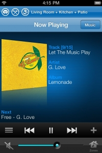 Sonos iPhone: Now Playing