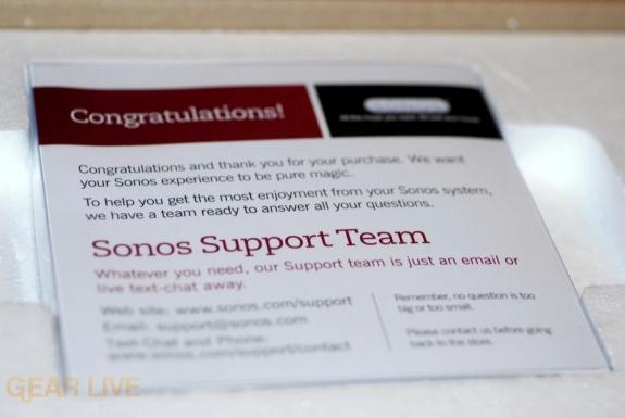Sonos S5 box open