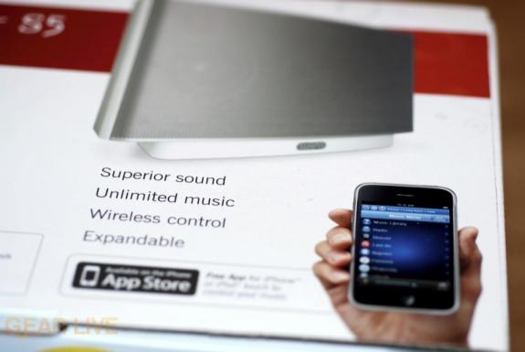 Sonos iPhone Controller on S5 box