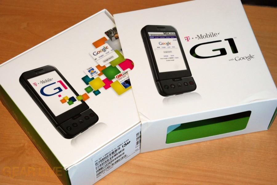 T-Mobile G1 inner box