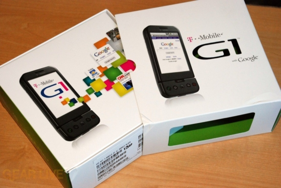 T-Mobile G1 inner box