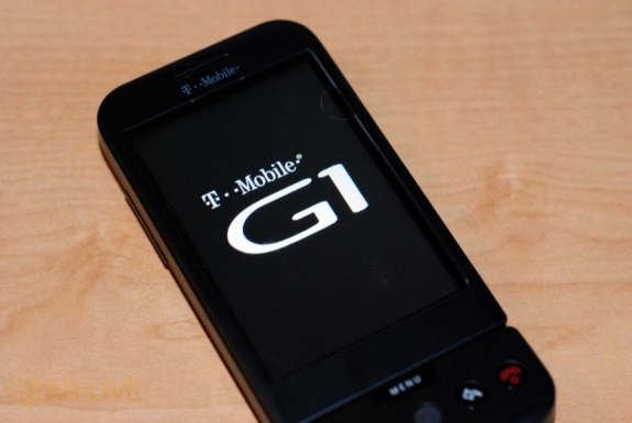 T-Mobile G1 splash screen