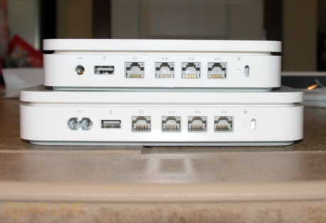 Airport Extreme and Time Capsule rear ports