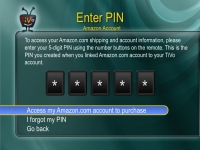 TiVo Amazon Integration: Enter PIN