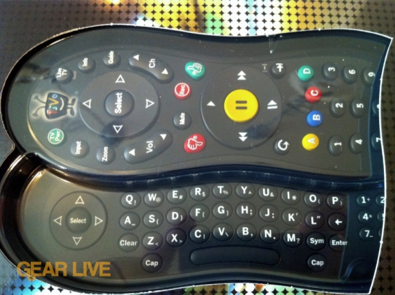 TiVo Slide remote box window