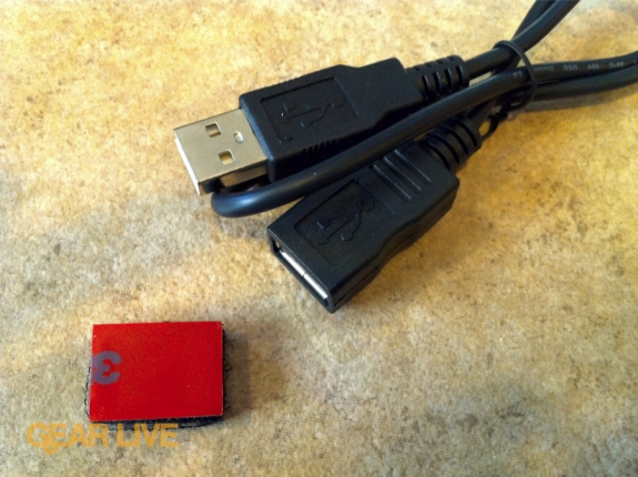 TiVo Slide Remote USB cable and velcro