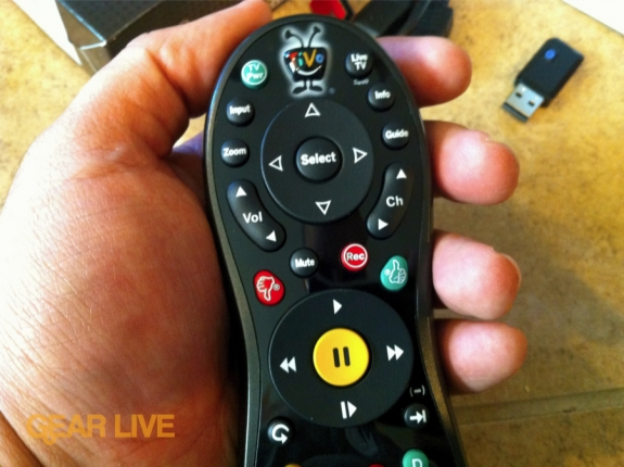 TiVo Slide remote button layout