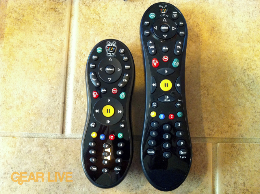 TiVo Slide remote vs. TiVo peanut remote
